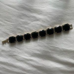 JCrew black stone bracelet